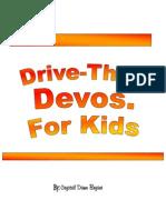 Drive Thru Devos 4 Kids