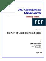 2013 Coconut Creek Employee Survey Report