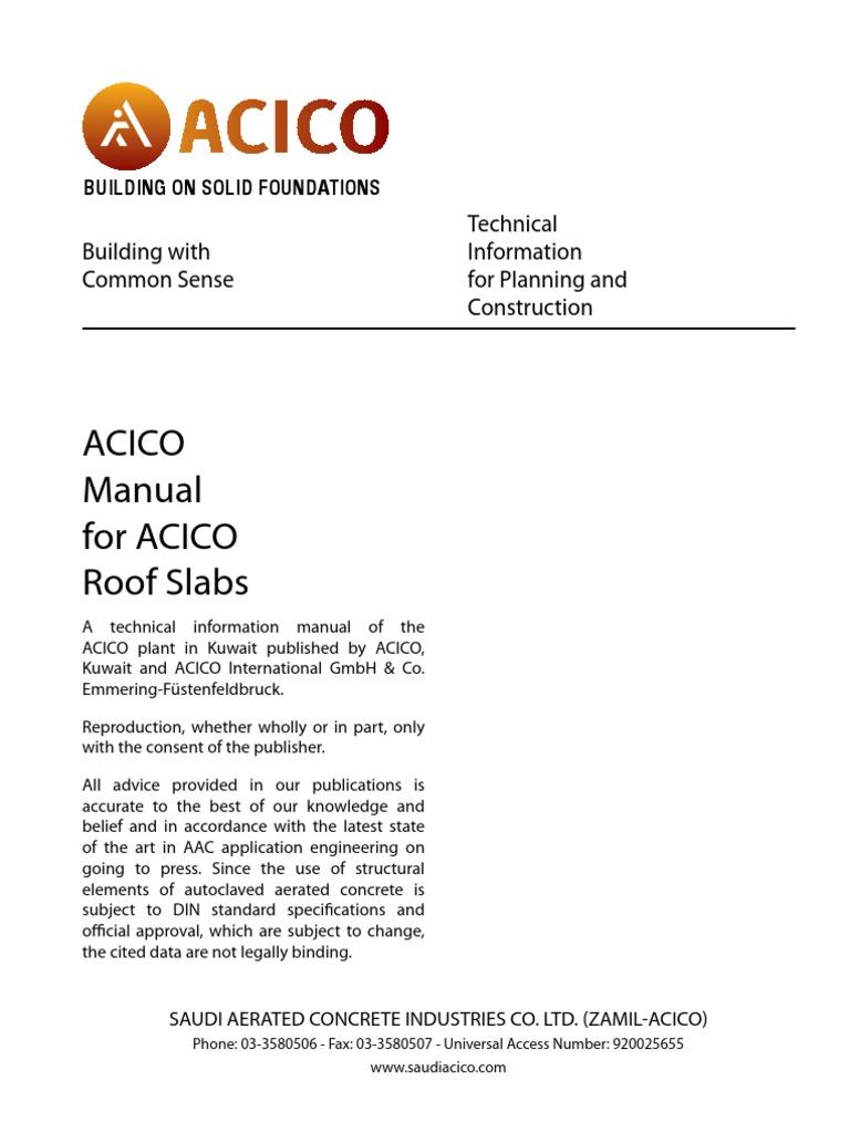 Acico Building Slabs | Building Materials | Concrete