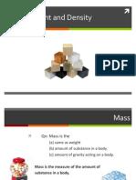 Mass Weight Density