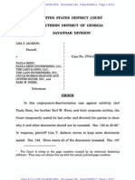 Jackson v. Deen, et al - May 8, 2013 Order - Sealed Documents, Sanctions, Disqualification, etc.