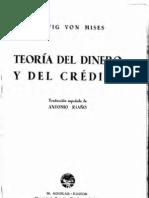 Teoria Del Dinero y Del Credito de Ludwig Von Mises