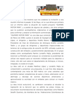 Informe de reunion de presentacion del Autodromo de Guatape