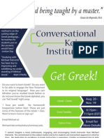 Fall 2013 Flyer - Conversational Koine Institute