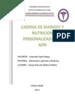 Cadenas de Markov , Nutricion Perzonalizada Del ADN