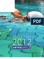 Price List 2012 - Updated 2 April 2012