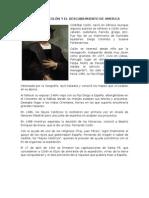 CRISTÓBAL COLÓN Y EL DESCUBRIMIENTO DE AMERICA