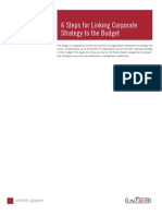 6 Step Linking Strategy to Budget