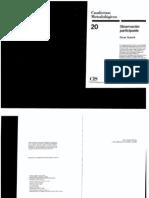 Guasch, Óscar. Observación participante. Cuaderno Metodológico 20..pdf