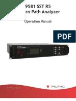 9581 Sst r5 Manual