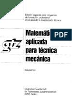 Matemática aplicada para técnica mecánica. Solucione