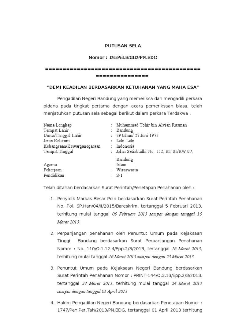 Draft Putusan Sela Kempid 150613