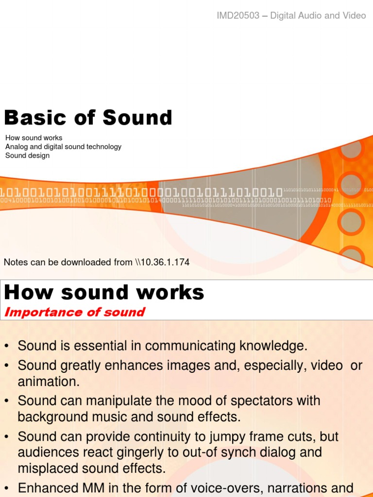 Basic of Sound | Digital Audio | Sound