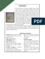 Argumentos- Obras Literarias- NARRATIVA URBANA