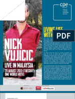 Nick Vujicic Seminar by Taylor's Centre of Professional Education (CPE)
