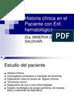 Historia Clinica en El Paciente Con Enf