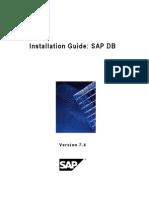 SAP DB Installation Guide