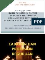 Cabaran Dan Profesion Perguruan - Kumpulan 2