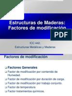 Madera 3 Factores de Modificacion