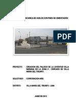 Informe de Suelos Palacio de La Juventud Villa Mariana