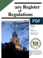 Delaware Register of Regulation February 2009