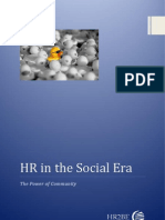 HR in the Social Era. the Power of Community