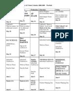 Junior Thesis Calendar 2008-2009