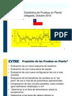 """02""""Evaluacíon Estadística de Pruebas en Planta"""", W. Pérez"""