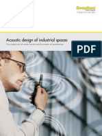 Acoustic design of industrial spaces