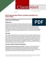 EPA New Effluent Limitation Power Plants