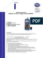 Manual Multimetro c 122