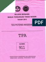Soal Sbmptn 2013 Tpa (911)