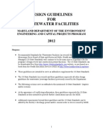 Wastewater Design Guidelines 2012