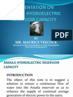 Presentation on Amaila Falls Hydroelectric Project
