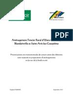 Aménagement Foncier Rural d'Illiers-Combray, Blandainville et Saint-Avit-les-Guespières - Préconisations environnementales de conservation des éléments semi-naturels et propositions d'aménagements en faveur de la biodiversité - septembre 2011