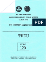 Soal SBMPTN 2013 TKDU (120)
