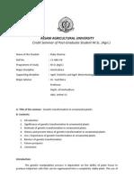Assam Agricultural University Credit Seminar