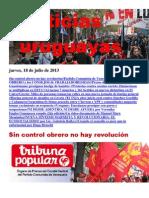 Noticias Uruguayas Jueves 18 de Julio Del 2013