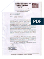 Acuerdo y compromiso Sikuris Rimac Wayra - Municipalidad Paccarectambo
