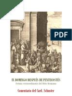 IX DOMINGO DESPUÉS DE PENTECOSTÉS. Card. Schuster
