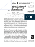Antecedents and Actions of Export Pricing Strategy