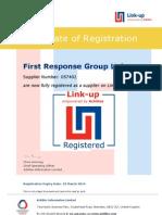 Link Up Certificate