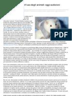 Direttiva Europea sull'uso degli animali, oggi l'audizione in Parlamento