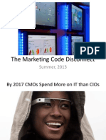 The Marketing Code Disconnect