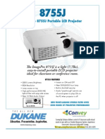 Dukane 8755J-RJ Projector