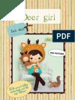 Deer Girl Pattern felt