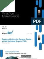 Advanced Enterprise Campus Design VSS BRKCRS-3035