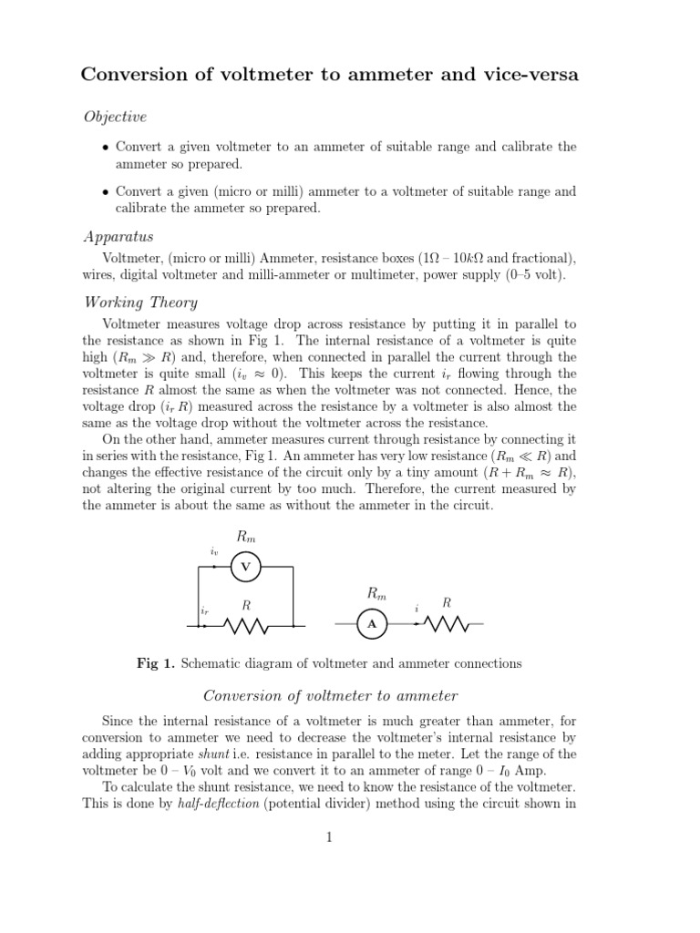 Conversion Of Voltmeter To Ammeter And Vice Versa Electromagnetic Circuit Diagram With Compatibility Electromagnetism