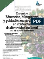 Cartel Encuentro Bilinguismo 2013 UPN