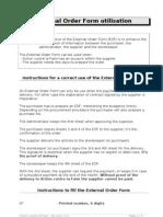 External Order Form Utilisation en 2005